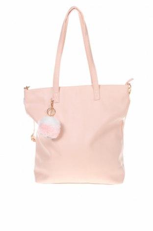 Дамска чанта Sinsay, Цвят Розов, Еко кожа, Цена 28,32лв.