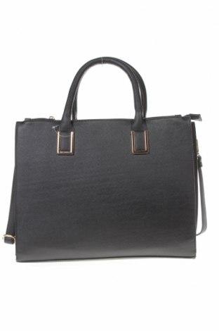 Дамска чанта Sinsay, Цвят Черен, Еко кожа, Цена 27,30лв.