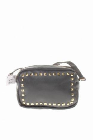 Дамска чанта Sinsay, Цвят Черен, Еко кожа, Цена 36,75лв.