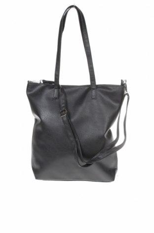 Дамска чанта Sinsay, Цвят Черен, Еко кожа, Цена 29,68лв.