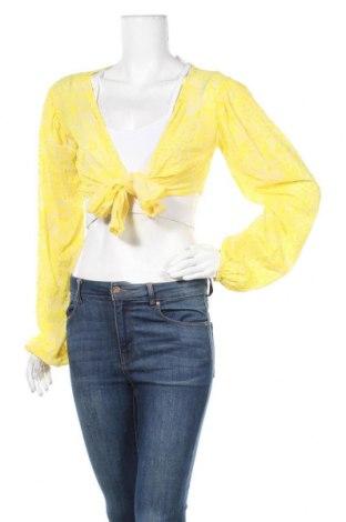 Дамска жилетка Top Fashion, Размер S, Цвят Жълт, Цена 9,20лв.