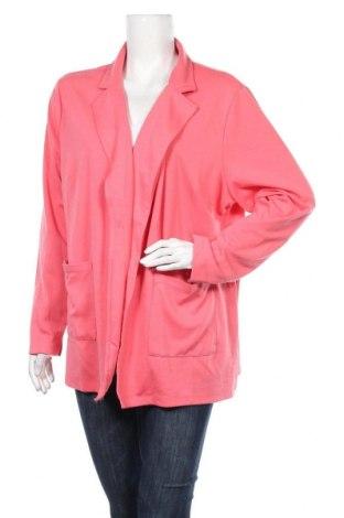 Дамска жилетка Up 2 Fashion, Размер XXL, Цвят Розов, 67% полиестер, 30% вискоза, 3% еластан, Цена 5,51лв.