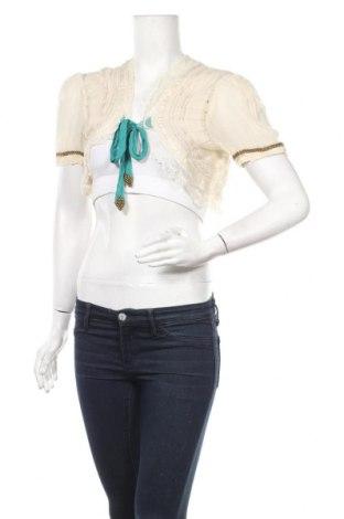 Дамска жилетка Zara, Размер M, Цвят Екрю, Вискоза, Цена 5,50лв.
