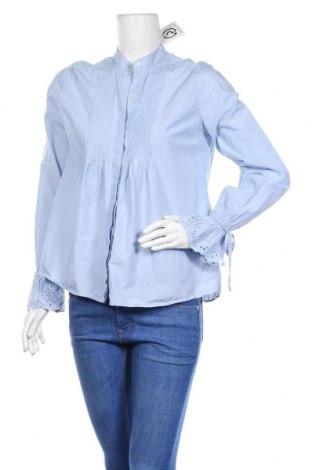 Дамска риза Abercrombie & Fitch, Размер S, Цвят Син, Памук, Цена 14,65лв.