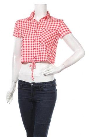 Γυναικείο πουκάμισο Bershka, Μέγεθος XS, Χρώμα Κόκκινο, Βισκόζη, Τιμή 16,70€