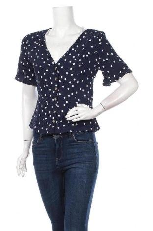 Γυναικείο πουκάμισο Bershka, Μέγεθος M, Χρώμα Μπλέ, Βισκόζη, Τιμή 16,70€