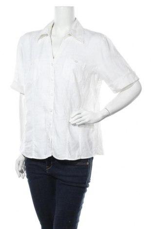 Γυναικείο πουκάμισο G.W., Μέγεθος L, Χρώμα Λευκό, Λινό, Τιμή 10,39€