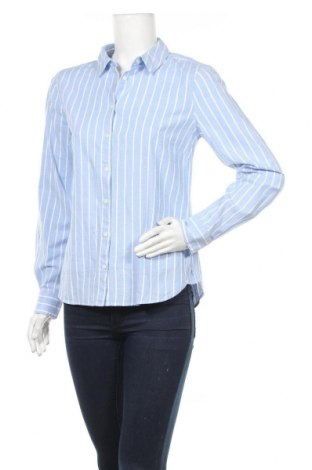 Дамска риза H&M L.O.G.G., Размер M, Цвят Син, 97% памук, 3% еластан, Цена 17,25лв.