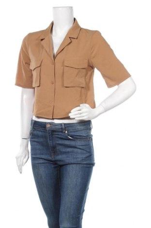 Дамска риза Missguided, Размер S, Цвят Бежов, Цена 15,30лв.