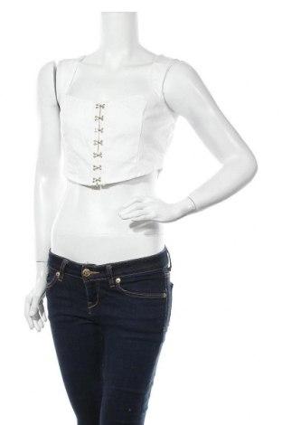 Дамска риза Missguided, Размер S, Цвят Бял, Памук, Цена 23,40лв.
