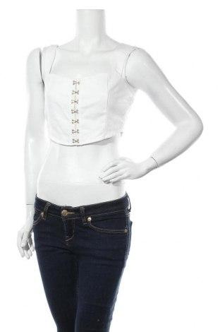 Дамска риза Missguided, Размер M, Цвят Бял, Памук, Цена 21,60лв.