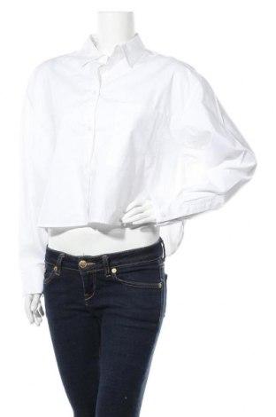 Дамска риза Monki, Размер S, Цвят Бял, Памук, Цена 17,82лв.