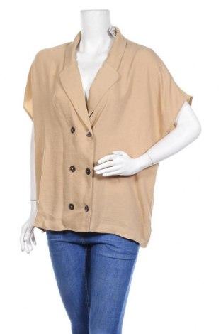 Дамска риза Only Carmakoma, Размер XL, Цвят Бежов, Полиестер, Цена 44,10лв.