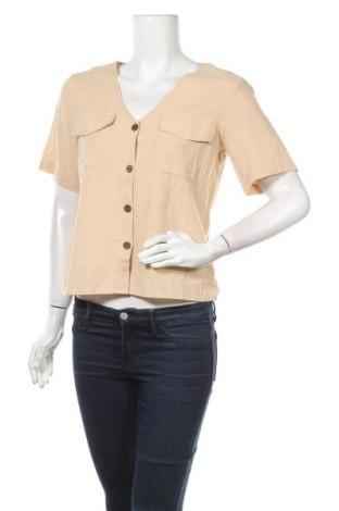 Дамска риза Pieces, Размер M, Цвят Бежов, Цена 44,10лв.