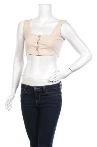 Дамска риза Top Fashion, Размер S, Цвят Бежов, Цена 23,40лв.