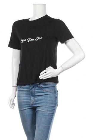 Дамска тениска, Размер S, Цвят Черен, Цена 10,40лв.