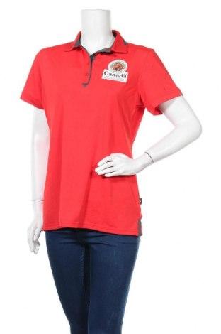 Дамска тениска, Размер L, Цвят Червен, 92% полиестер, 8% еластан, Цена 15,02лв.
