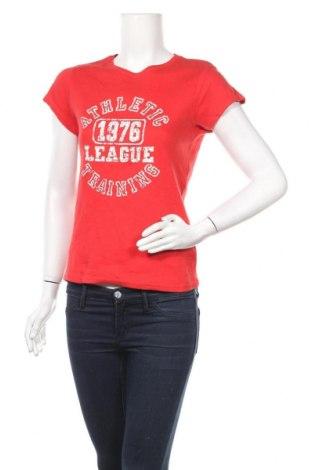 Дамска тениска, Размер M, Цвят Червен, Памук, Цена 16,96лв.