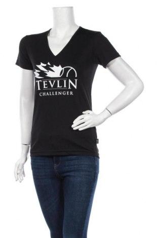 Дамска тениска, Размер M, Цвят Черен, Полиестер, Цена 14,70лв.