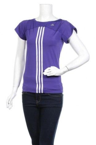 Дамска тениска Adidas, Размер S, Цвят Лилав, 84% полиамид, 16% еластан, Цена 23,52лв.