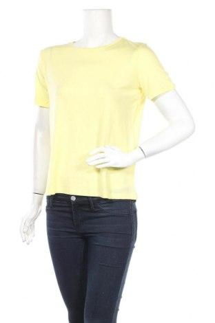 Dámské tričko Aware by Vero Moda, Velikost S, Barva Žlutá, 95% lyocell, 5% elastan, Cena  105,00Kč