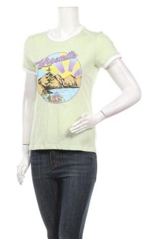 Дамска тениска Brave Soul, Размер S, Цвят Зелен, 60% памук, 40% полиестер, Цена 22,41лв.