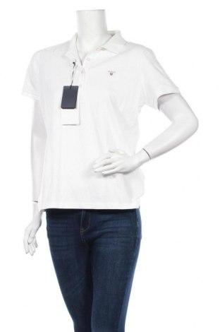 Дамска тениска Gant, Размер XL, Цвят Бял, Памук, Цена 41,59лв.