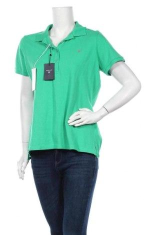 Дамска тениска Gant, Размер XL, Цвят Зелен, Памук, Цена 41,59лв.