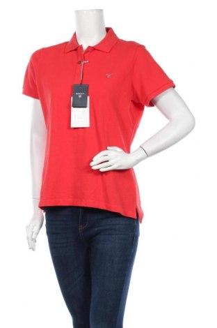Дамска тениска Gant, Размер XL, Цвят Червен, Памук, Цена 41,59лв.