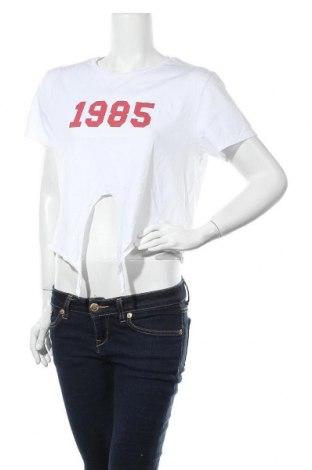 Дамска тениска H&M Divided, Размер L, Цвят Бял, Памук, Цена 5,54лв.