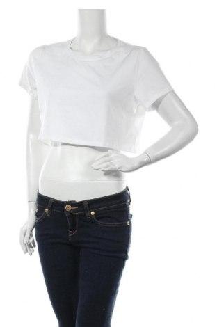Дамска тениска Na-Kd, Размер L, Цвят Бял, 43% полиестер, 29% лиосел, 24% памук, 4% еластан, Цена 10,80лв.