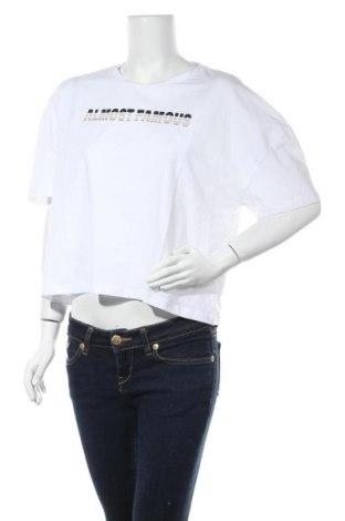 Дамска тениска Noisy May, Размер M, Цвят Бял, 95% памук, 5% еластан, Цена 11,60лв.