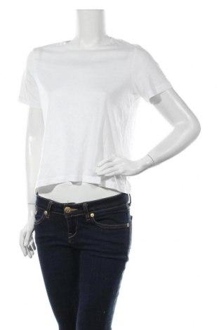 Дамска тениска Weekday, Размер S, Цвят Бял, Памук, Цена 19,20лв.