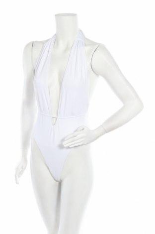 Дамски бански Missguided, Размер S, Цвят Бял, 95% полиестер, 5% еластан, Цена 22,62лв.