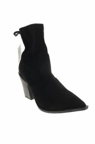 Γυναικεία μποτάκια, Μέγεθος 40, Χρώμα Μαύρο, Κλωστοϋφαντουργικά προϊόντα, Τιμή 10,67€