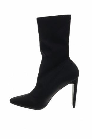 Γυναικεία μποτάκια Boohoo, Μέγεθος 40, Χρώμα Μαύρο, Κλωστοϋφαντουργικά προϊόντα, Τιμή 7,99€
