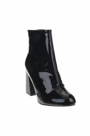 Γυναικεία μποτάκια Boohoo, Μέγεθος 41, Χρώμα Μαύρο, Δερματίνη, Τιμή 9,59€