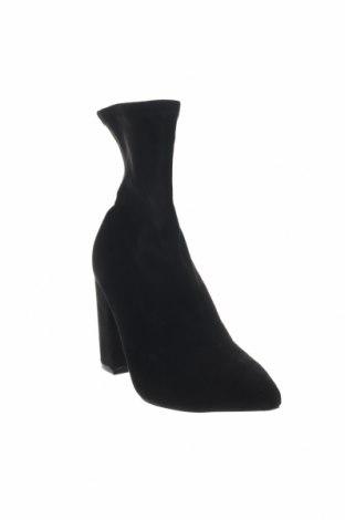Γυναικεία μποτάκια Boohoo, Μέγεθος 41, Χρώμα Μαύρο, Κλωστοϋφαντουργικά προϊόντα, Τιμή 10,55€