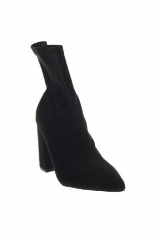 Γυναικεία μποτάκια Boohoo, Μέγεθος 40, Χρώμα Μαύρο, Κλωστοϋφαντουργικά προϊόντα, Τιμή 10,55€