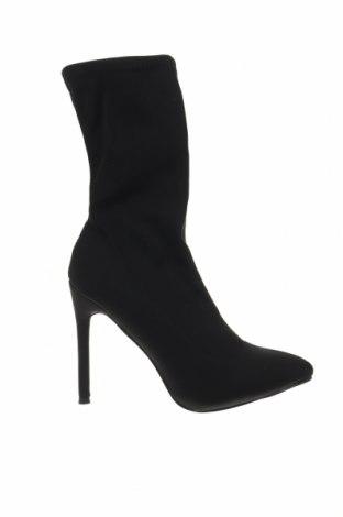 Γυναικείες μπότες Krush, Μέγεθος 39, Χρώμα Μαύρο, Κλωστοϋφαντουργικά προϊόντα, Τιμή 7,42€