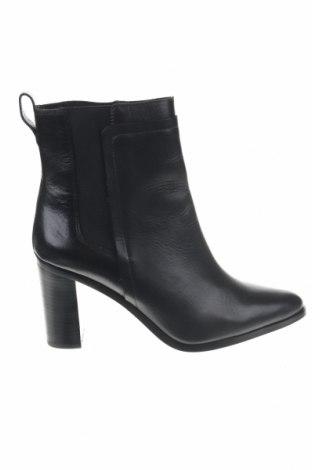 Γυναικεία μποτάκια Massimo Dutti, Μέγεθος 42, Χρώμα Μαύρο, Γνήσιο δέρμα, κλωστοϋφαντουργικά προϊόντα, Τιμή 49,18€