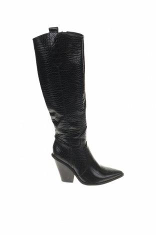 Дамски ботуши, Размер 36, Цвят Черен, Еко кожа, Цена 31,60лв.