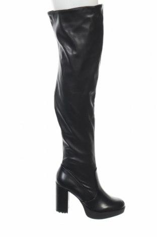 Γυναικείες μπότες Bata, Μέγεθος 39, Χρώμα Μαύρο, Δερματίνη, Τιμή 30,67€