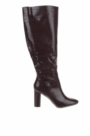 Γυναικείες μπότες Boohoo, Μέγεθος 40, Χρώμα Καφέ, Δερματίνη, Τιμή 14,84€