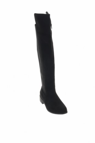 Γυναικείες μπότες Boohoo, Μέγεθος 38, Χρώμα Μαύρο, Κλωστοϋφαντουργικά προϊόντα, Τιμή 30,54€