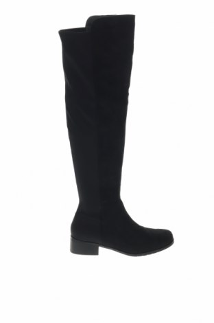 Дамски ботуши Boohoo, Размер 41, Цвят Черен, Текстил, Цена 31,60лв.