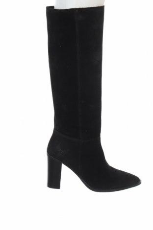 Γυναικείες μπότες Kaporal, Μέγεθος 36, Χρώμα Μαύρο, Φυσικό σουέτ, Τιμή 46,14€