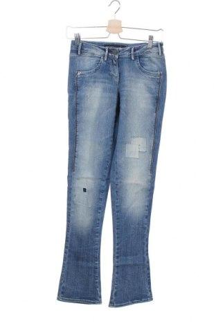 Дамски дънки Miss Sixty, Размер XXS, Цвят Син, 98% памук, 2% еластан, Цена 13,37лв.