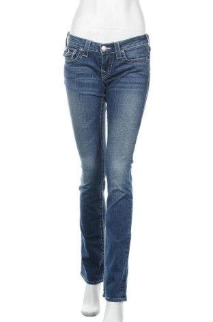 Дамски дънки True Religion, Размер M, Цвят Син, 98% памук, 2% еластан, Цена 28,98лв.