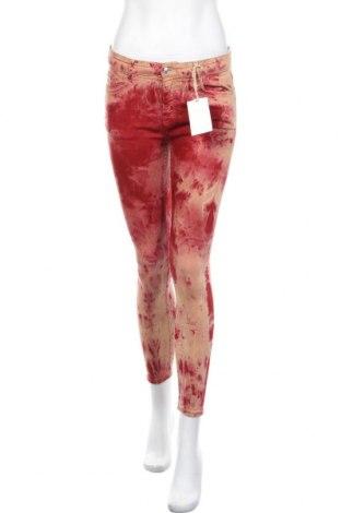 Дамски дънки Zara, Размер S, Цвят Бежов, 78% памук, 15% лиосел, 5% полиестер, 2% еластан, Цена 22,05лв.